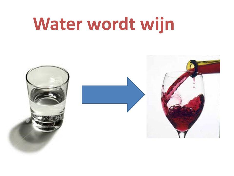 Water wordt wijn