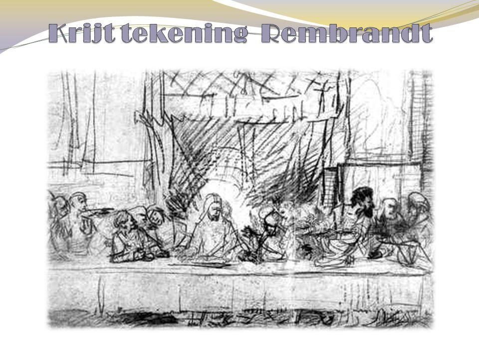 Krijt tekening Rembrandt