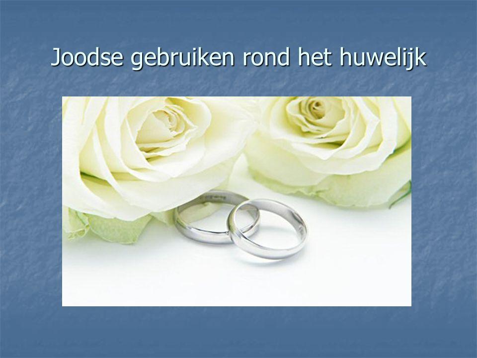 Joodse gebruiken rond het huwelijk