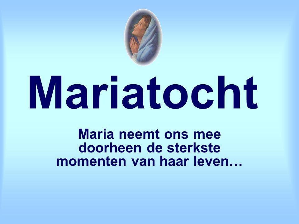 Maria neemt ons mee doorheen de sterkste momenten van haar leven…