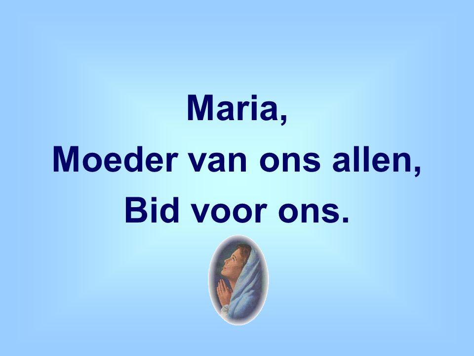 Maria, Moeder van ons allen, Bid voor ons.
