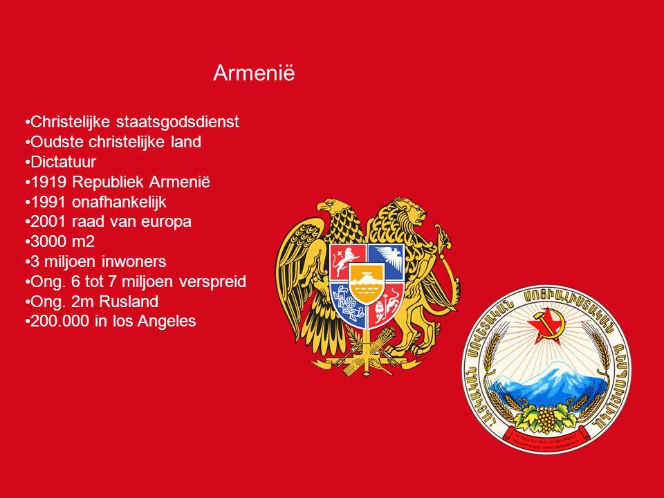 Armenië Christelijke staatsgodsdienst Oudste christelijke land