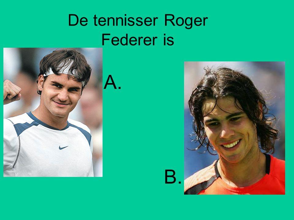 De tennisser Roger Federer is