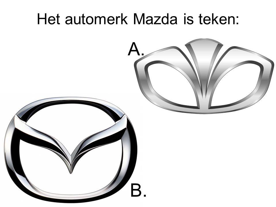Het automerk Mazda is teken: