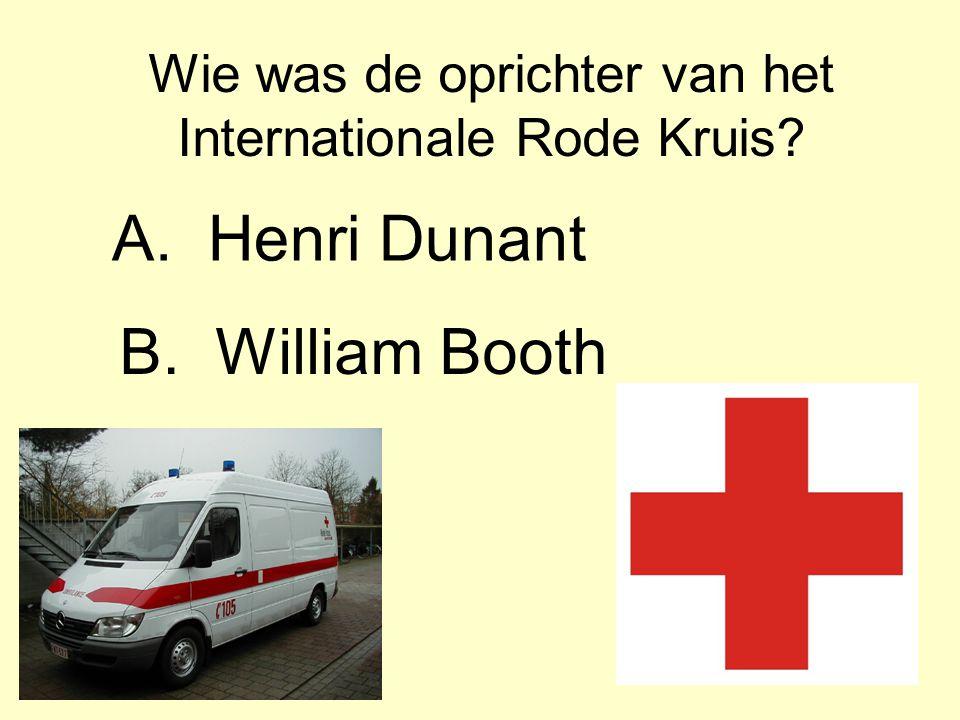 Wie was de oprichter van het Internationale Rode Kruis