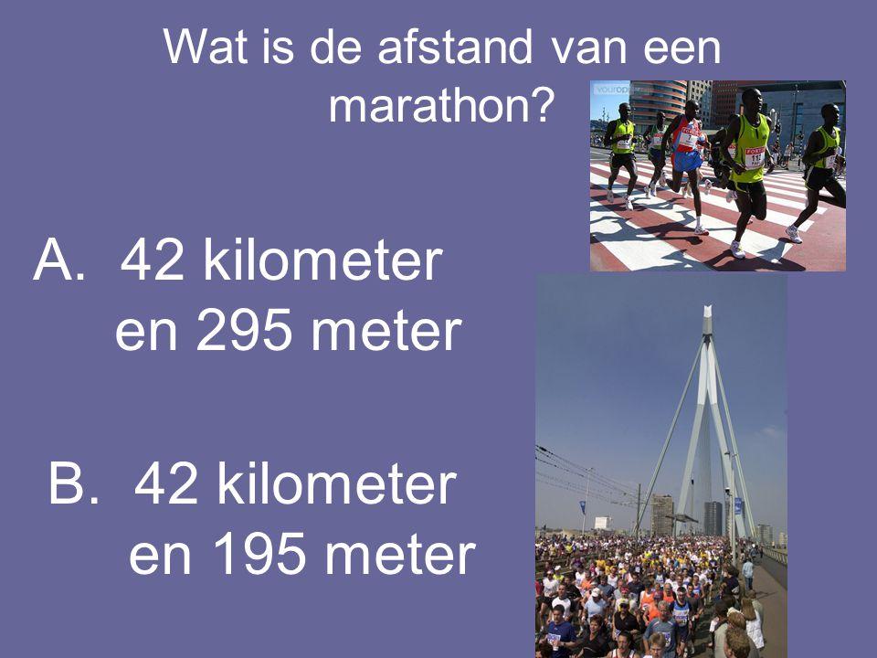 Wat is de afstand van een marathon