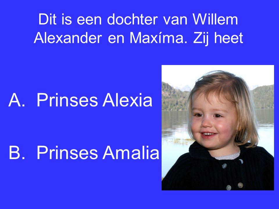 Dit is een dochter van Willem Alexander en Maxíma. Zij heet
