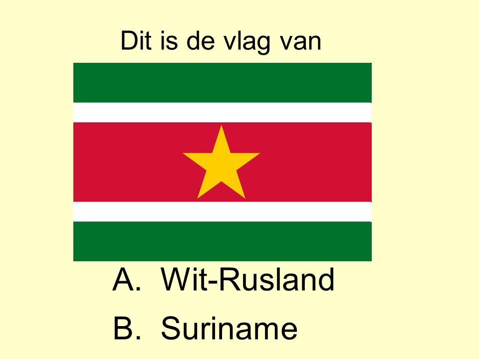 Dit is de vlag van A. Wit-Rusland B. Suriname