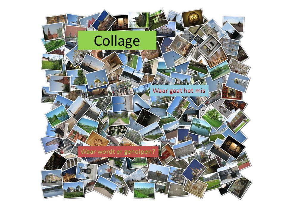Collage Waar gaat het mis Waar wordt er geholpen