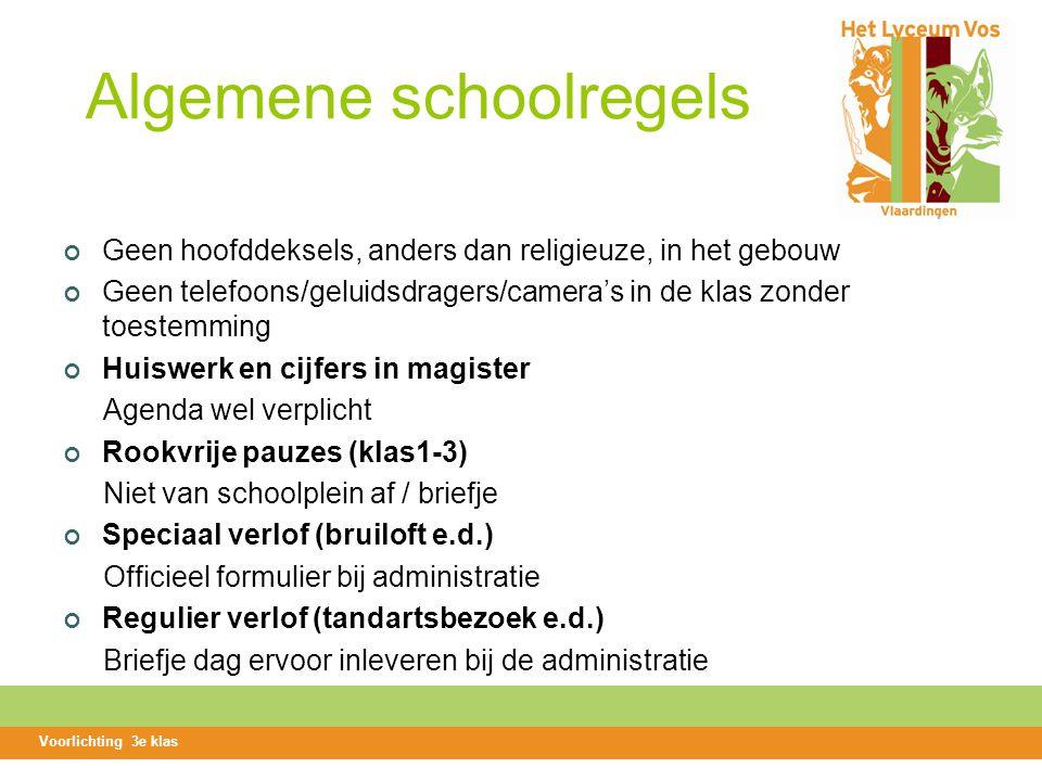 Algemene schoolregels