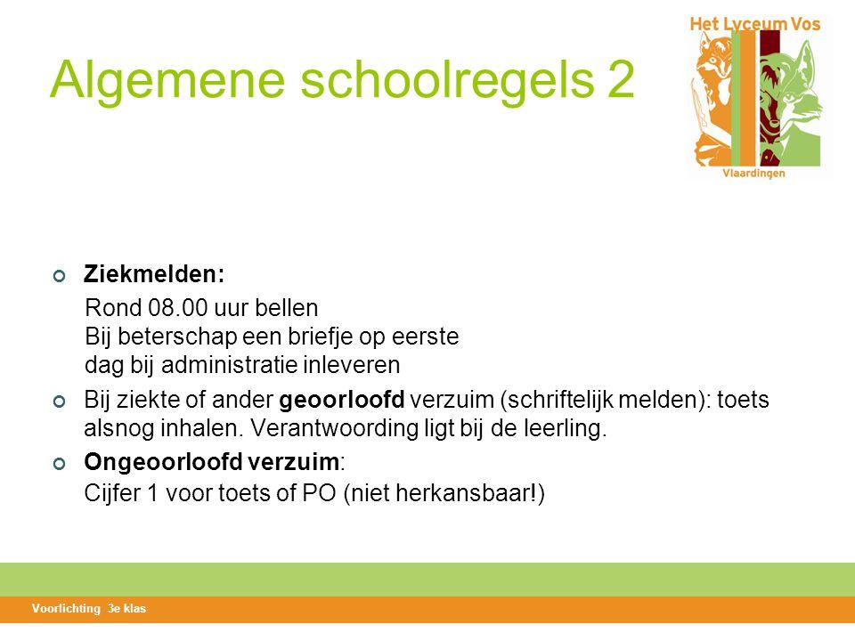 Algemene schoolregels 2