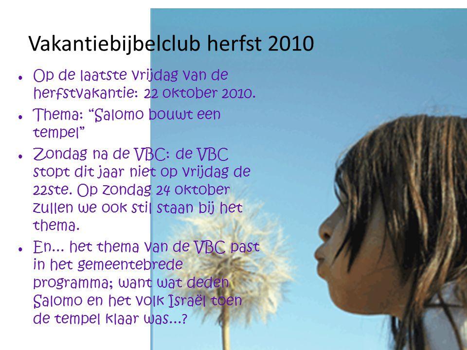 Vakantiebijbelclub herfst 2010