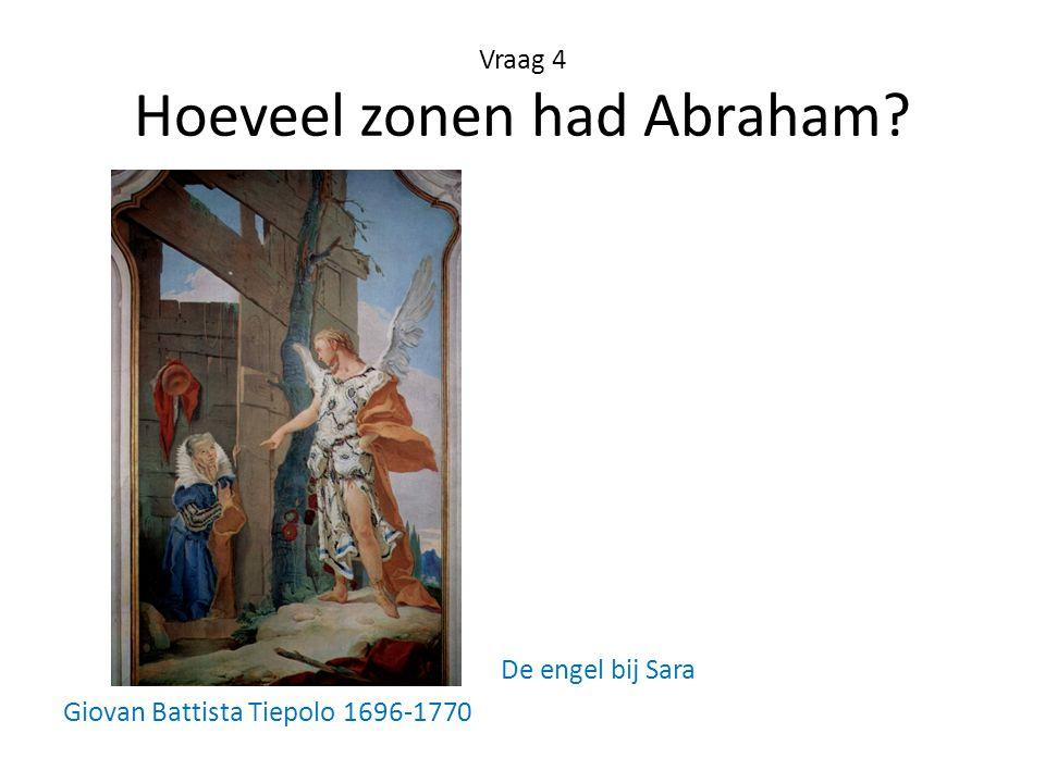 Vraag 4 Hoeveel zonen had Abraham
