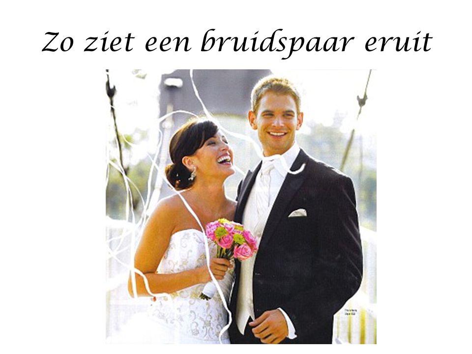 Zo ziet een bruidspaar eruit