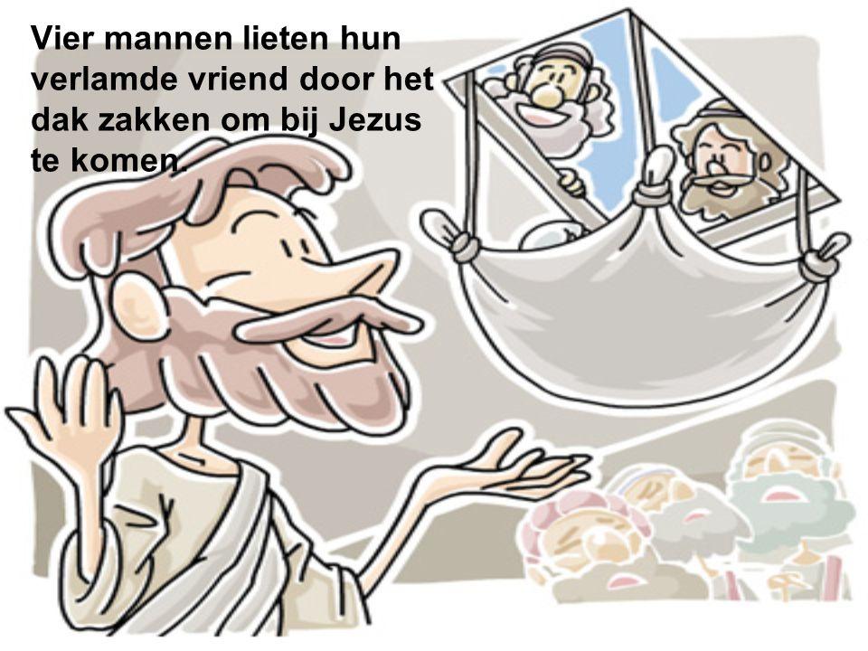 Vier mannen lieten hun verlamde vriend door het dak zakken om bij Jezus te komen.