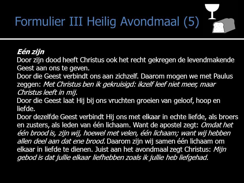 Formulier III Heilig Avondmaal (5)