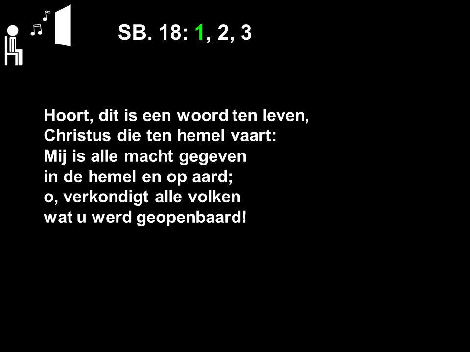 SB. 18: 1, 2, 3