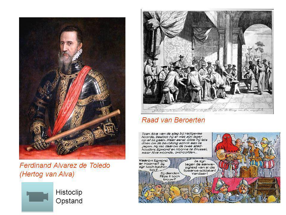 Raad van Beroerten Ferdinand Alvarez de Toledo (Hertog van Alva) Histoclip Opstand