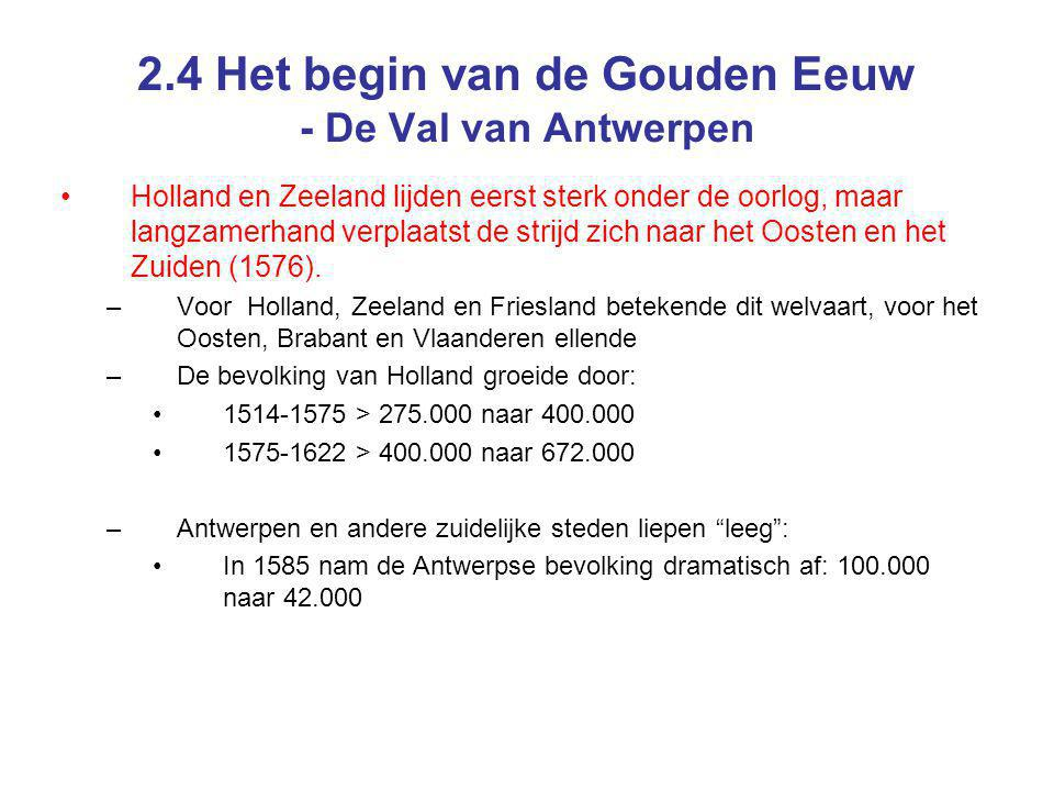 2.4 Het begin van de Gouden Eeuw - De Val van Antwerpen