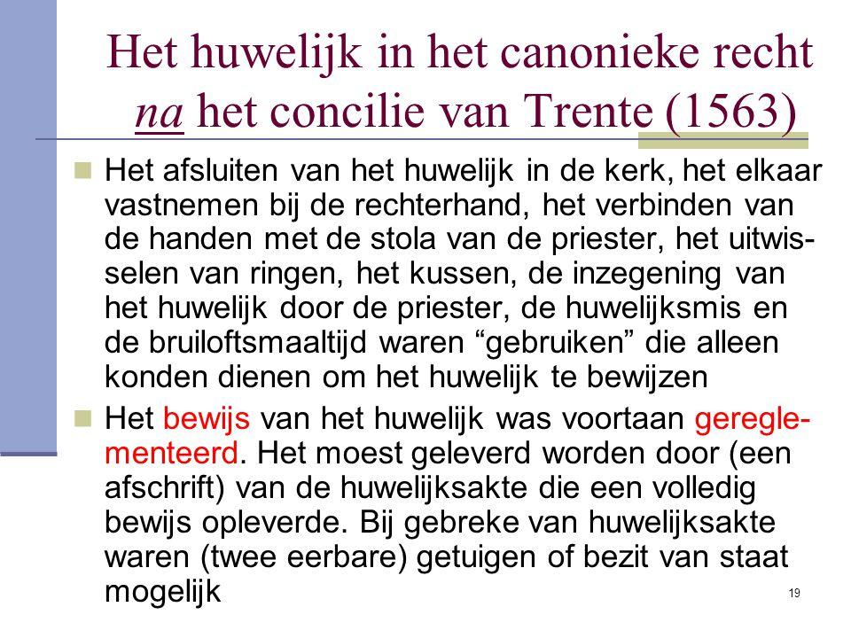 Het huwelijk in het canonieke recht na het concilie van Trente (1563)