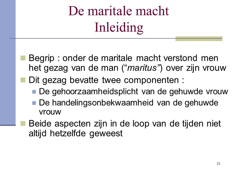 De maritale macht Inleiding