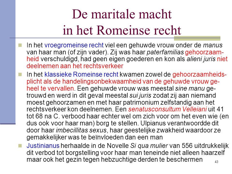 De maritale macht in het Romeinse recht