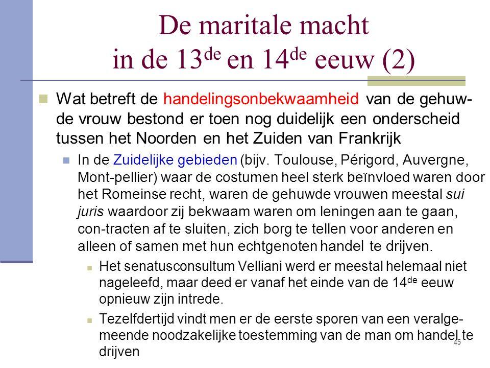 De maritale macht in de 13de en 14de eeuw (2)