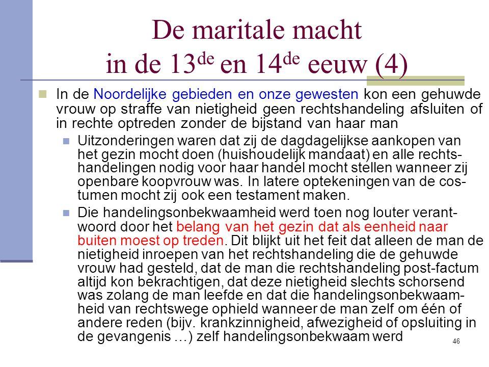 De maritale macht in de 13de en 14de eeuw (4)