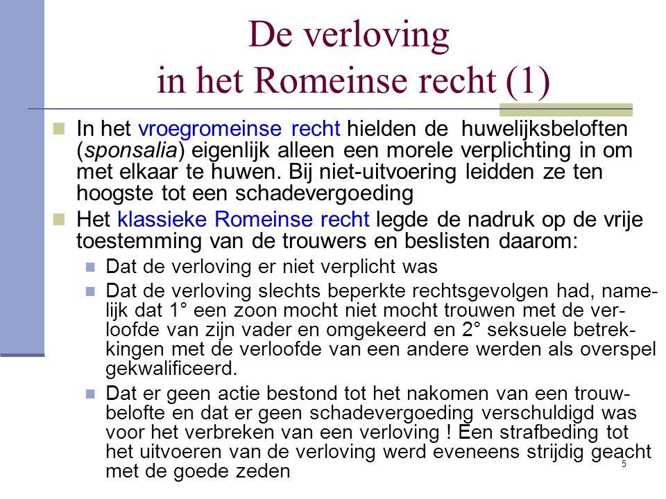 De verloving in het Romeinse recht (1)