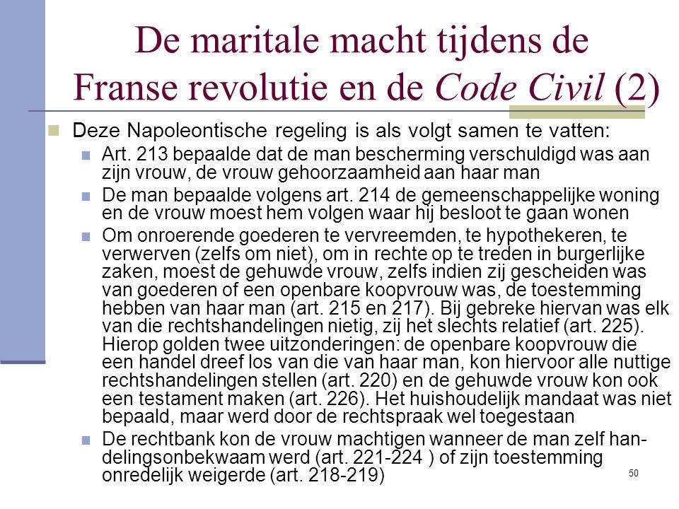 De maritale macht tijdens de Franse revolutie en de Code Civil (2)