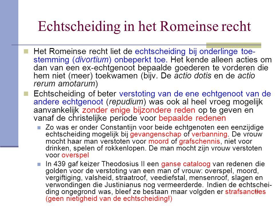 Echtscheiding in het Romeinse recht