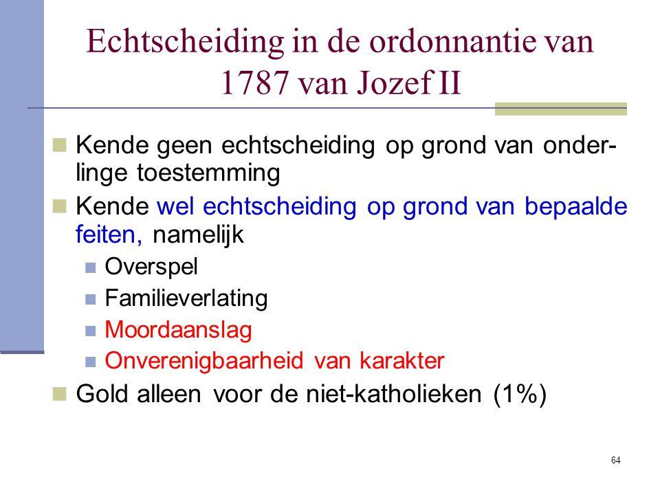 Echtscheiding in de ordonnantie van 1787 van Jozef II