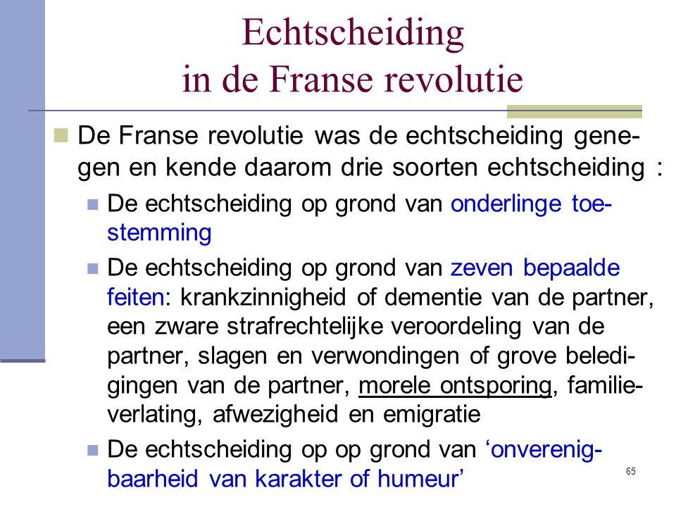 Echtscheiding in de Franse revolutie