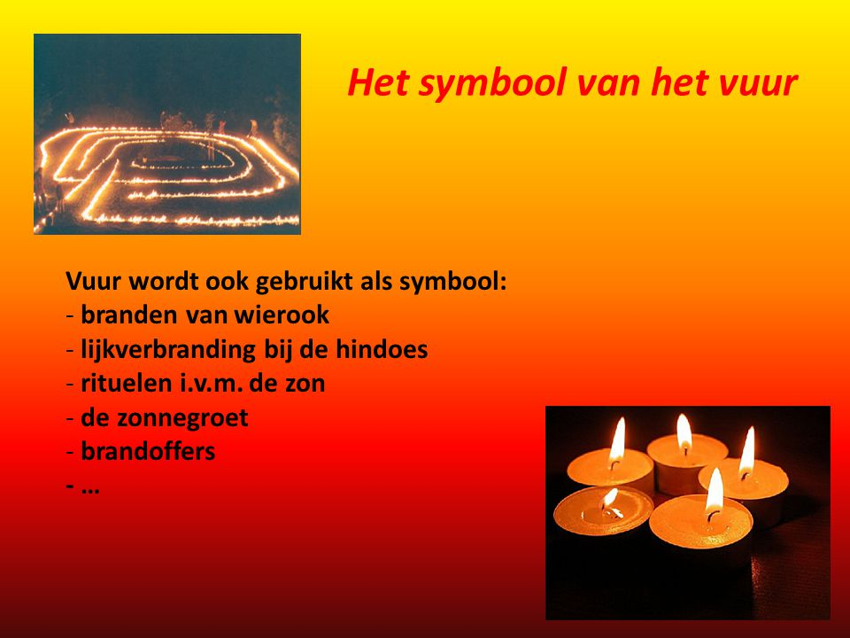 Het symbool van het vuur