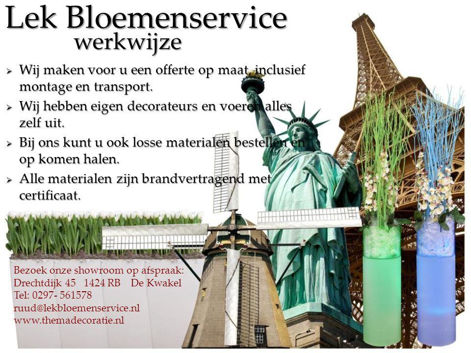 Lek Bloemenservice werkwijze