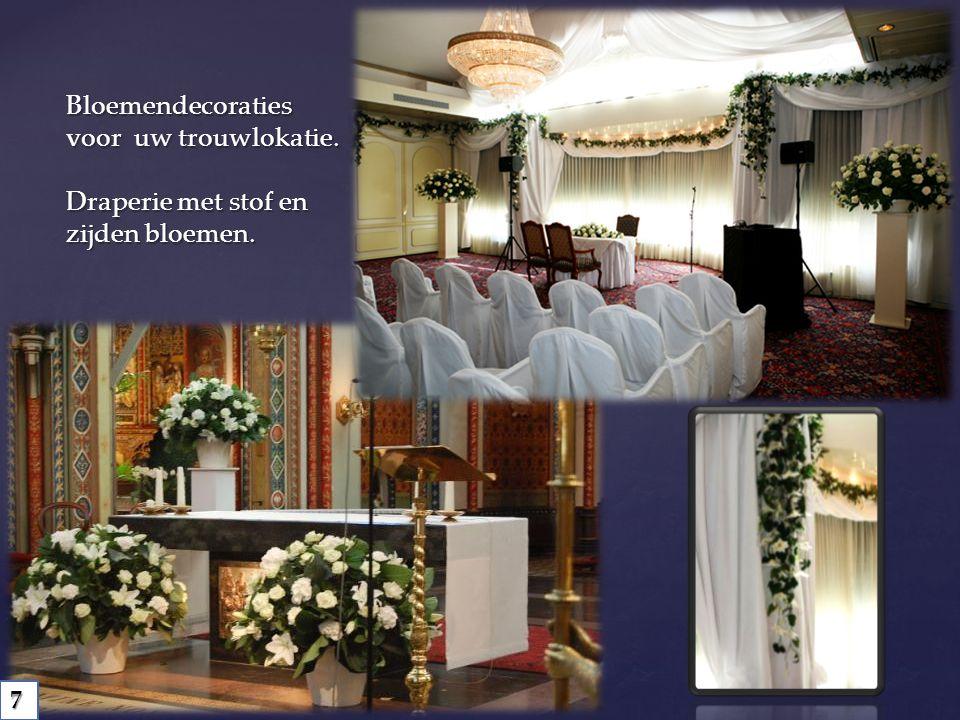 Bloemendecoraties voor uw trouwlokatie