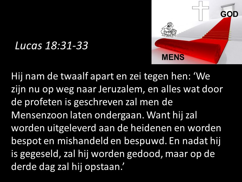 GOD MENS. Lucas 18:31-33.