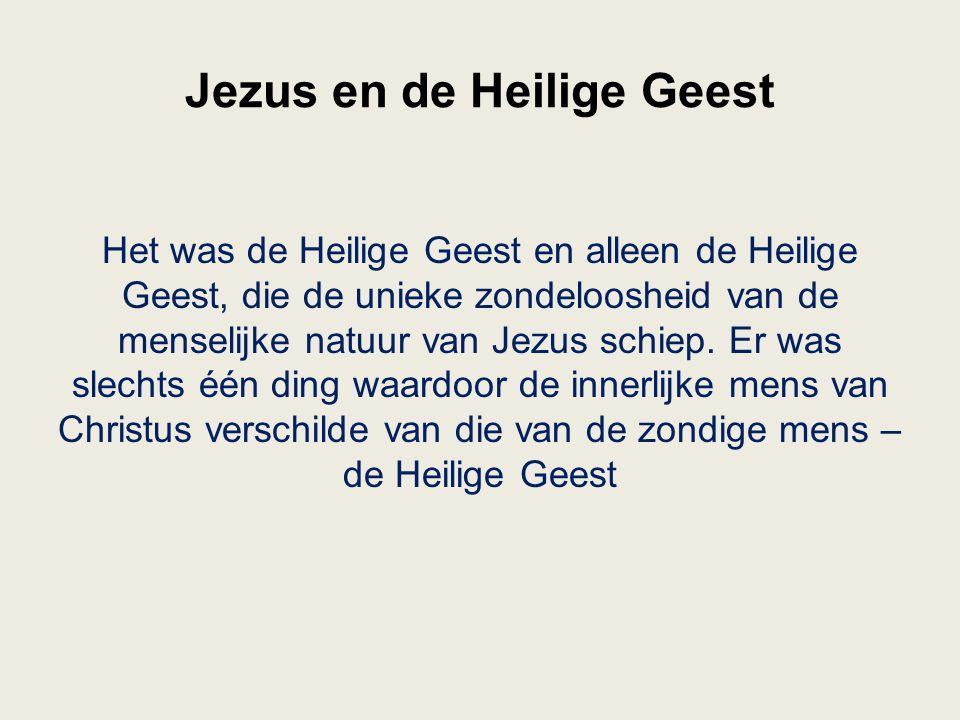 Jezus en de Heilige Geest
