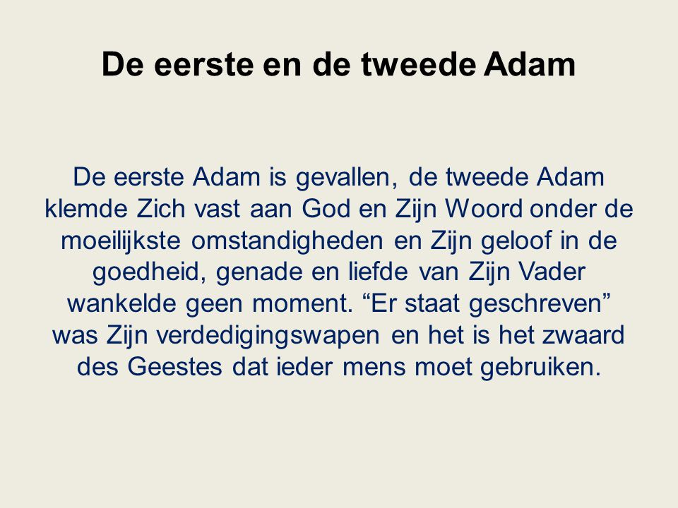 De eerste en de tweede Adam