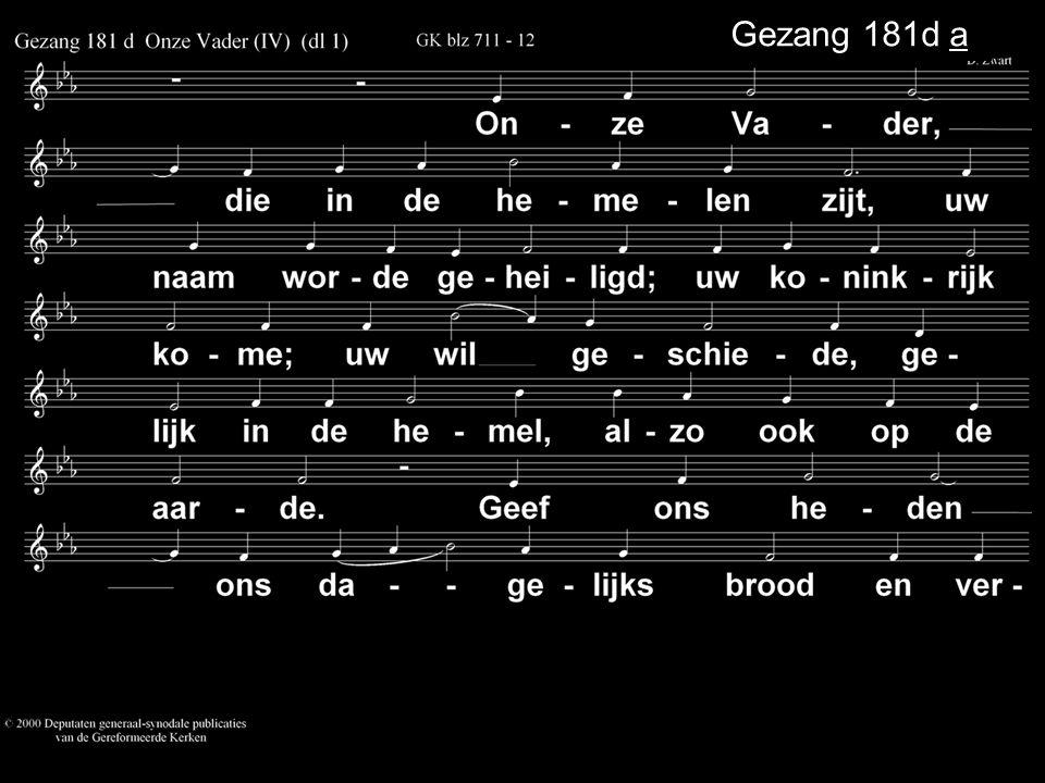Gezang 181d a