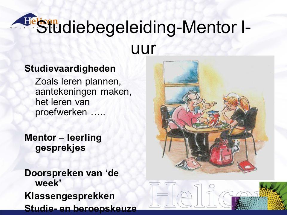 Studiebegeleiding-Mentor I-uur