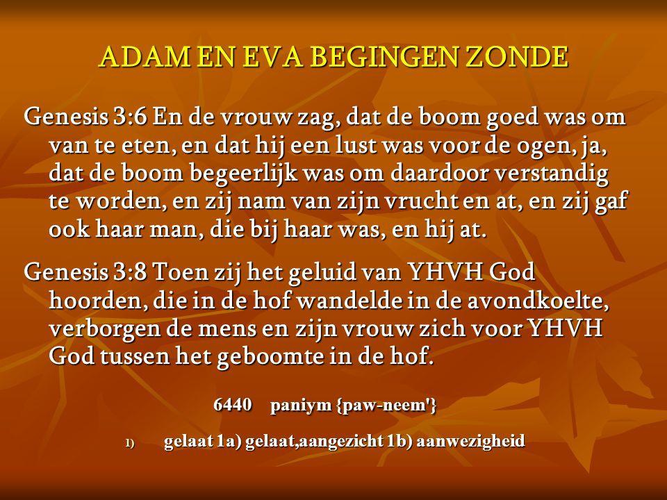 ADAM EN EVA BEGINGEN ZONDE