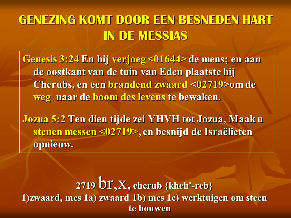 GENEZING KOMT DOOR EEN BESNEDEN HART IN DE MESSIAS