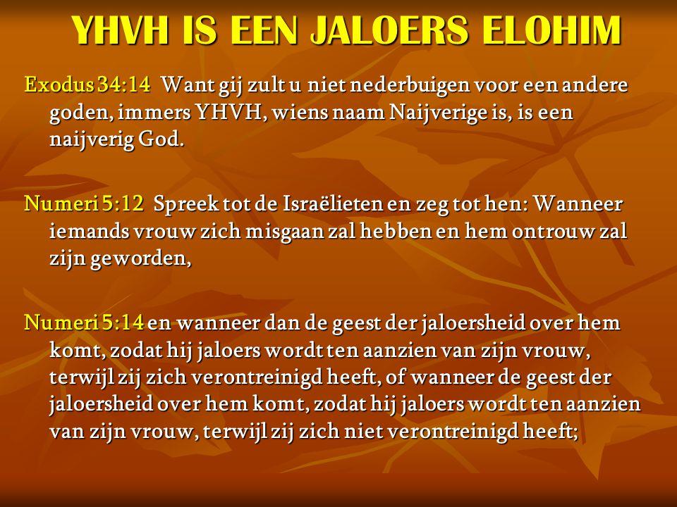 YHVH IS EEN JALOERS ELOHIM