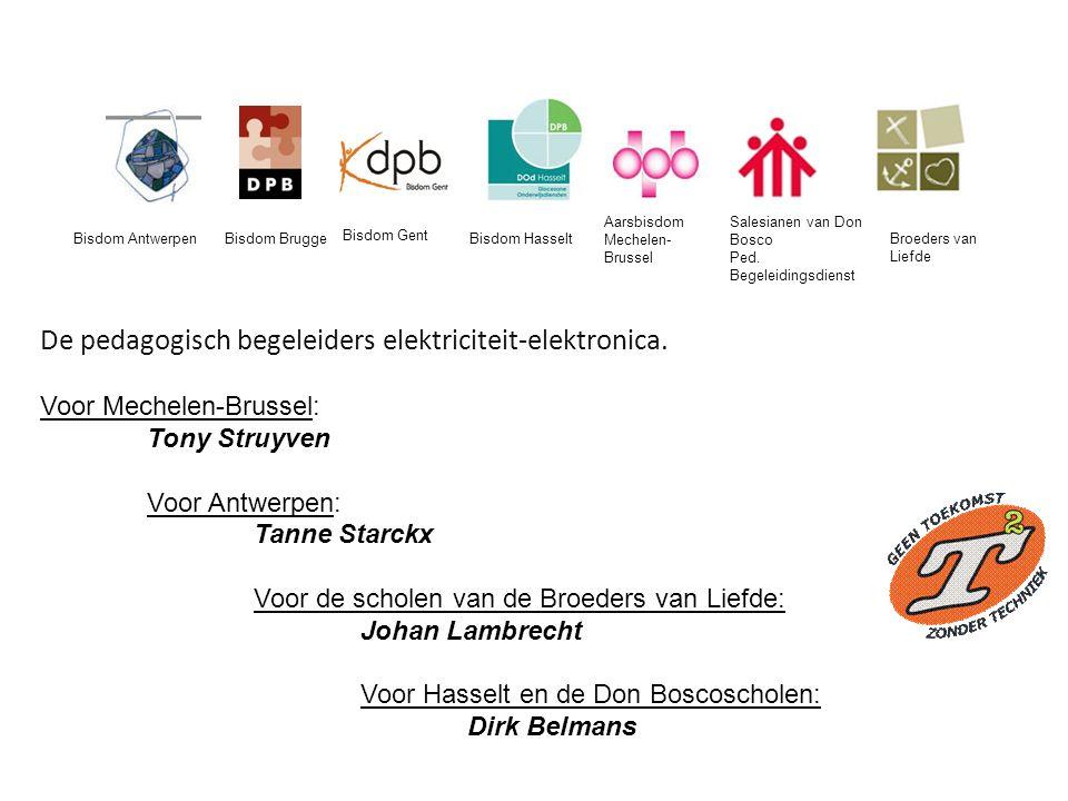 De pedagogisch begeleiders elektriciteit-elektronica.