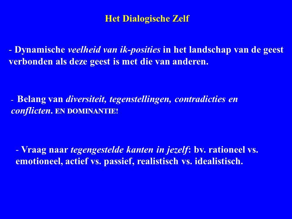 Dialogical Self Het Dialogische Zelf