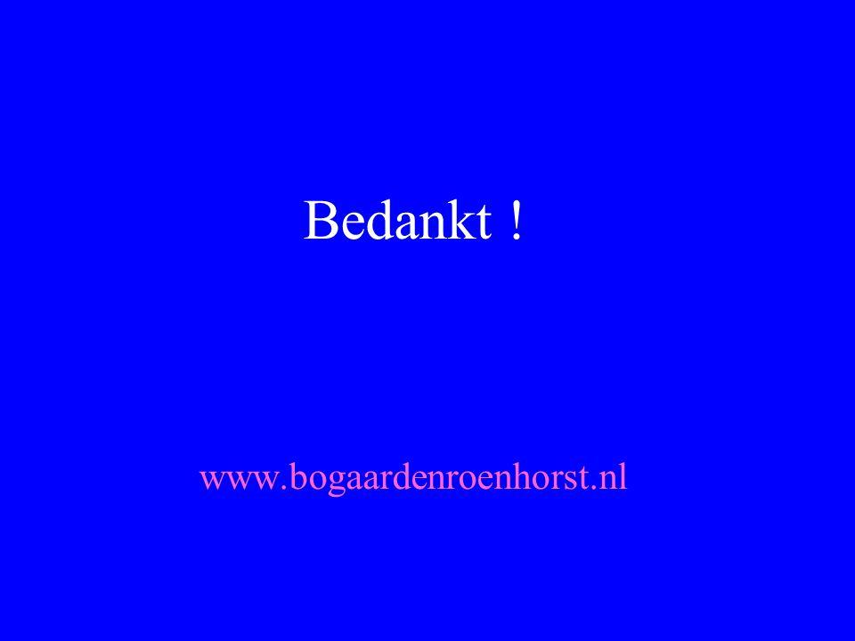 Bedankt ! www.bogaardenroenhorst.nl