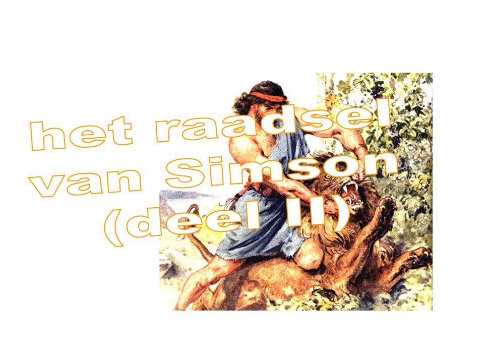 het raadsel van Simson (deel II)