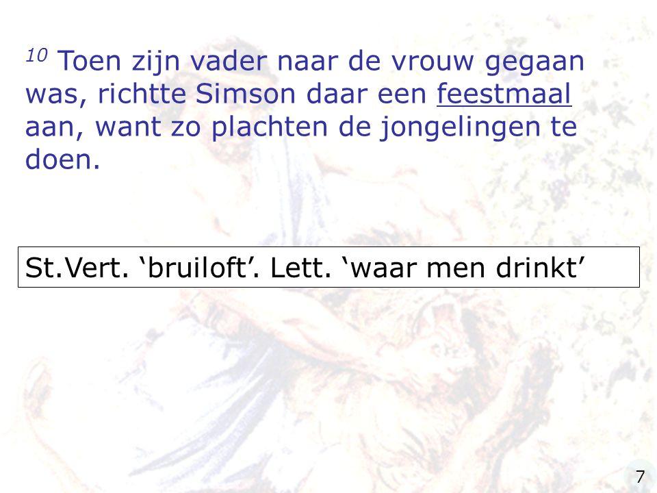 St.Vert. 'bruiloft'. Lett. 'waar men drinkt'