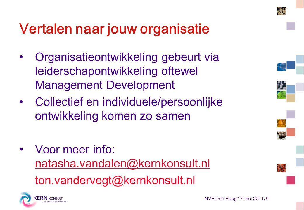 Vertalen naar jouw organisatie